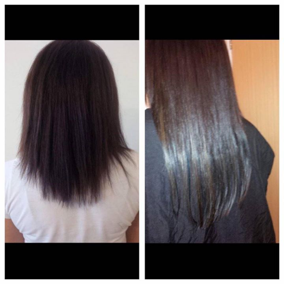 before and after two